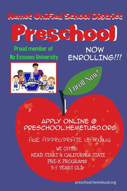 Preschool now enrolling online!