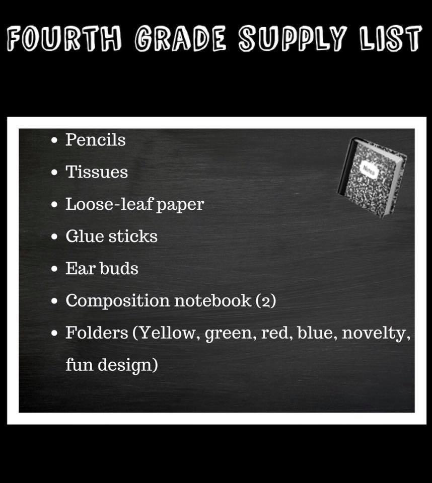 Supply List 3