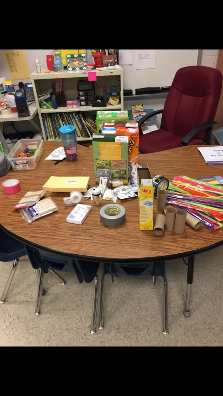 Student's were able to work on a STEM project in 1st Grade