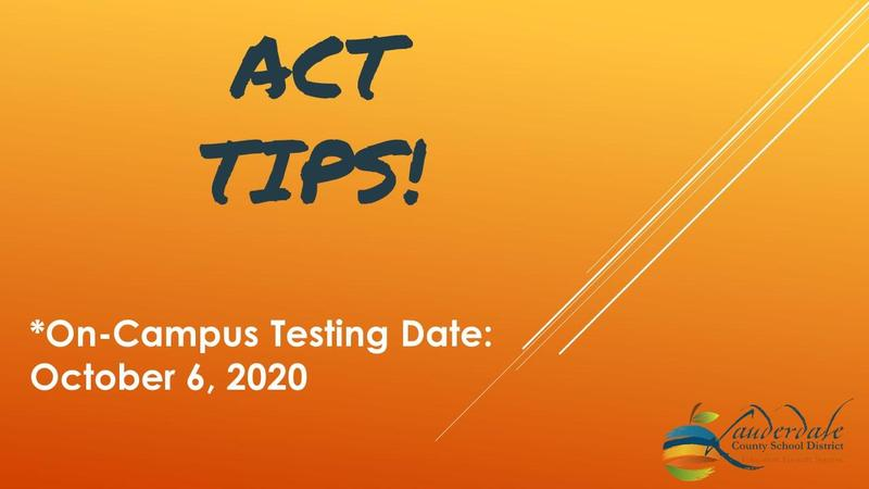 ACT Testing Tips Graphic