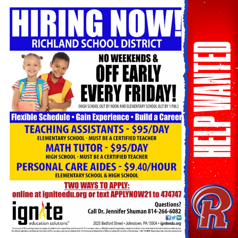 HELP WANTED - Part-Time and Full-Time Positions Featured Photo