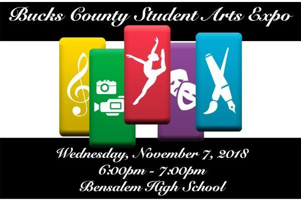 Bucks County Arts Expo Logo with 5 colorful columns