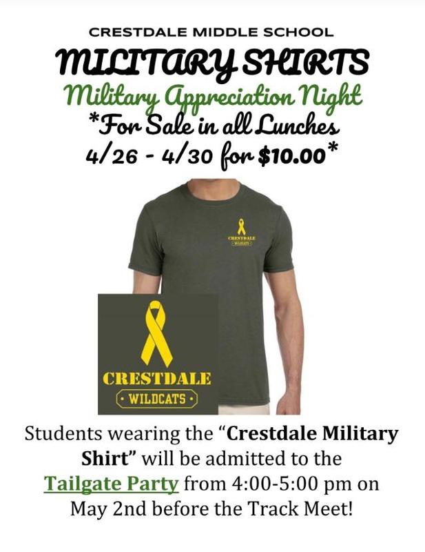military appreciation night t-shirt flyer