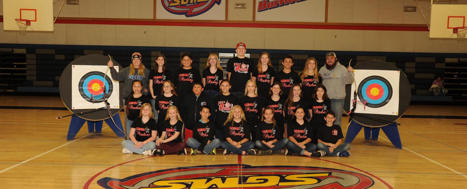 SGMS Archery team 17-18