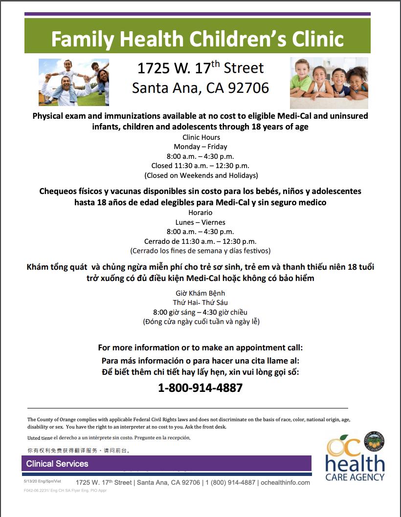 Family Health Clinic Flyer