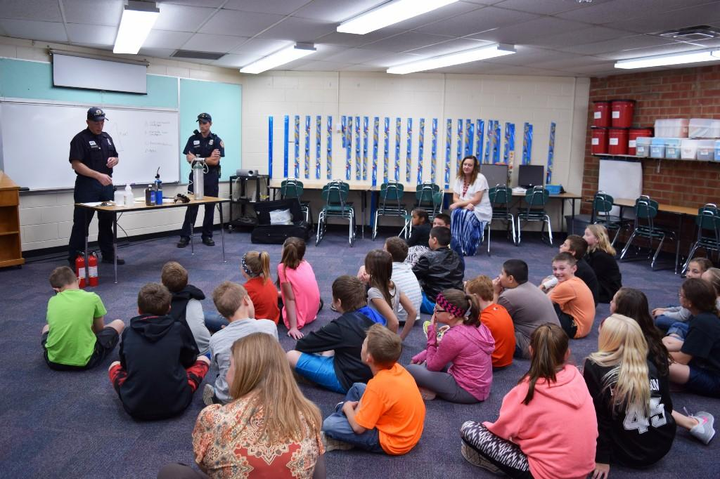 Firemen Safety Talk with 5th graders