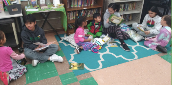 Read-in With Our Kinder Buddies