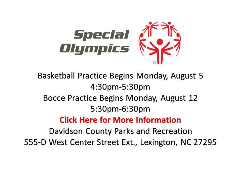 Special olympics announcement
