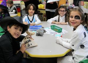 McKinley 2nd graders enjoy a classroom Halloween party.
