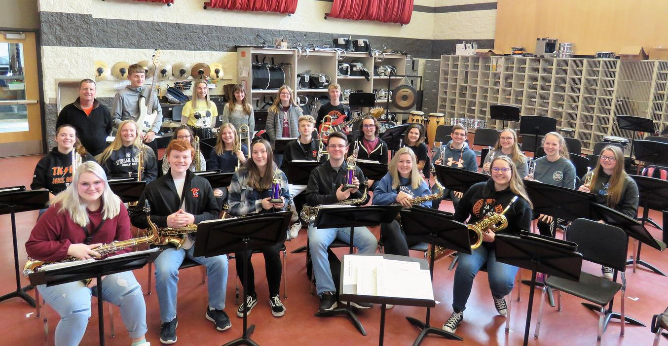 The TKHS Jazz Band won honors.