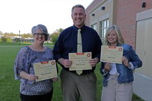 award winners Mrs. Z, Mr. Trumley and Mrs. Jewett