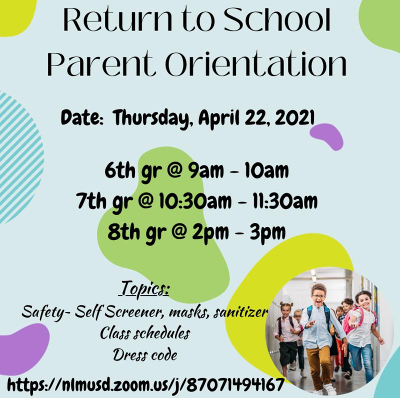 Return to School Parent Orientation! Featured Photo