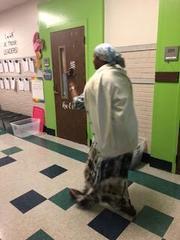 Harriet Tubman taking us through the Underground Railroad.