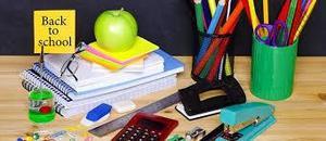 image of vairous school supplies
