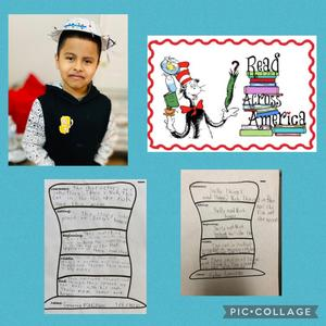 Worksheet and read across America collage