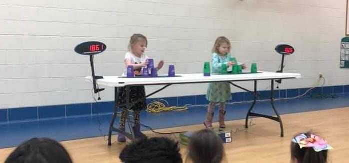 RICMS Students Participate in Cup Stacking Tournament Featured Photo
