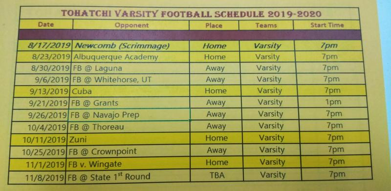 2019-2020 SY Football Schedule Featured Photo