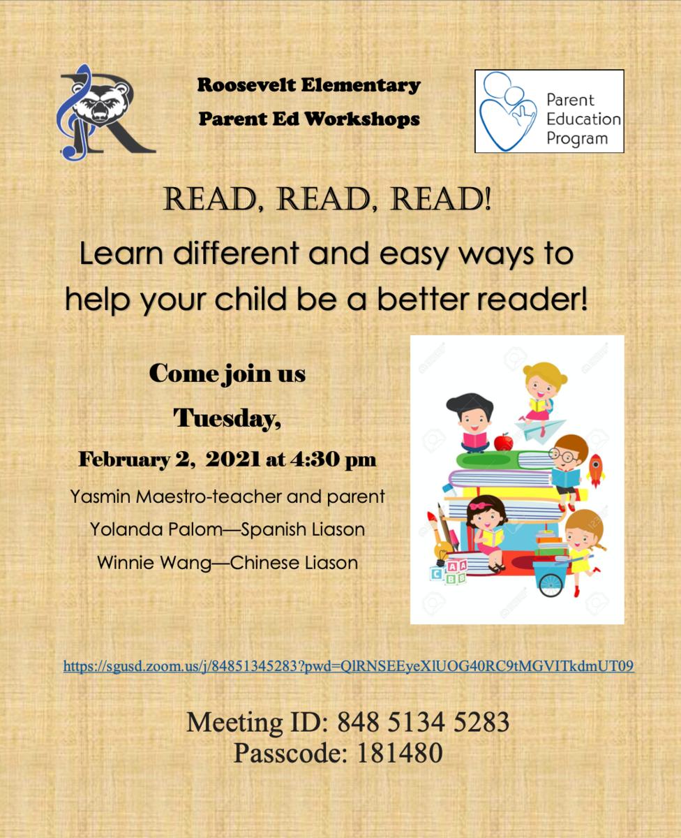 Parent Ed Workshop 02/02/2021