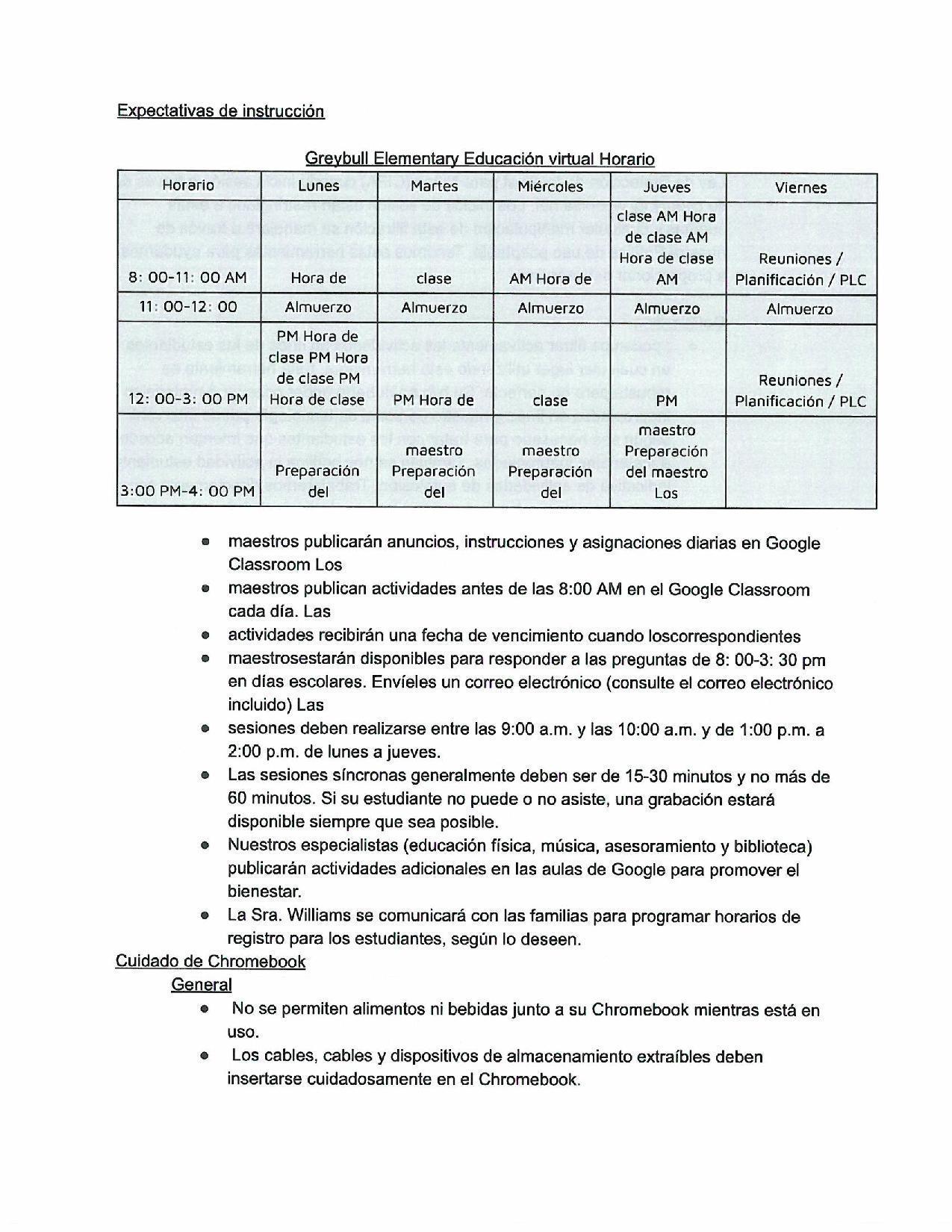 Spanish Parent Letter 4