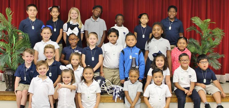 September student of the month group picture
