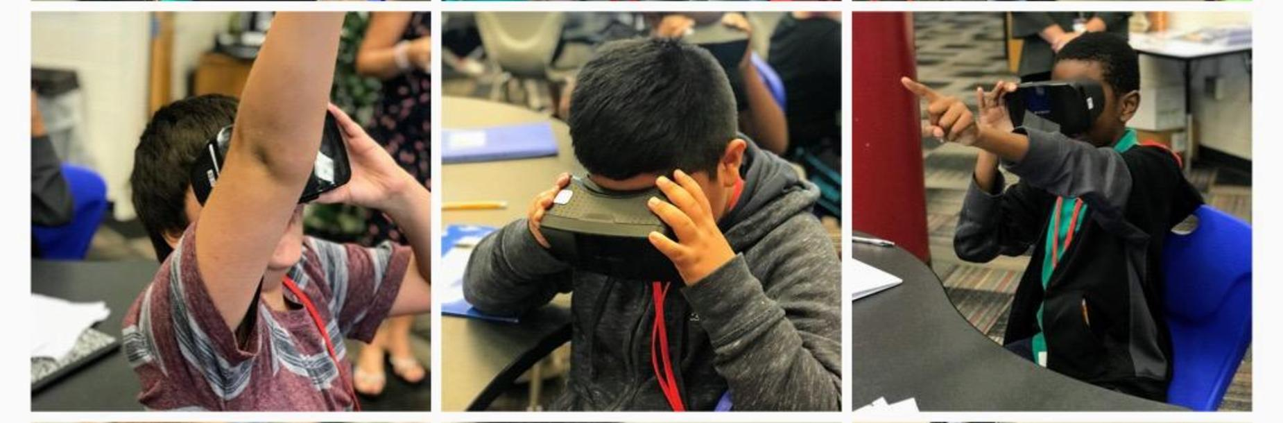 6th Grade Science students use virtual reality to explore volcanoes.