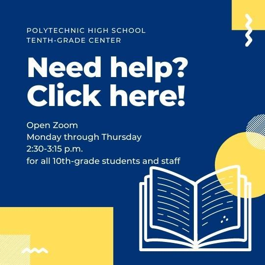 Click here to get support with online learning and teaching, 2:20 to 3 p.m., Monday through Friday.