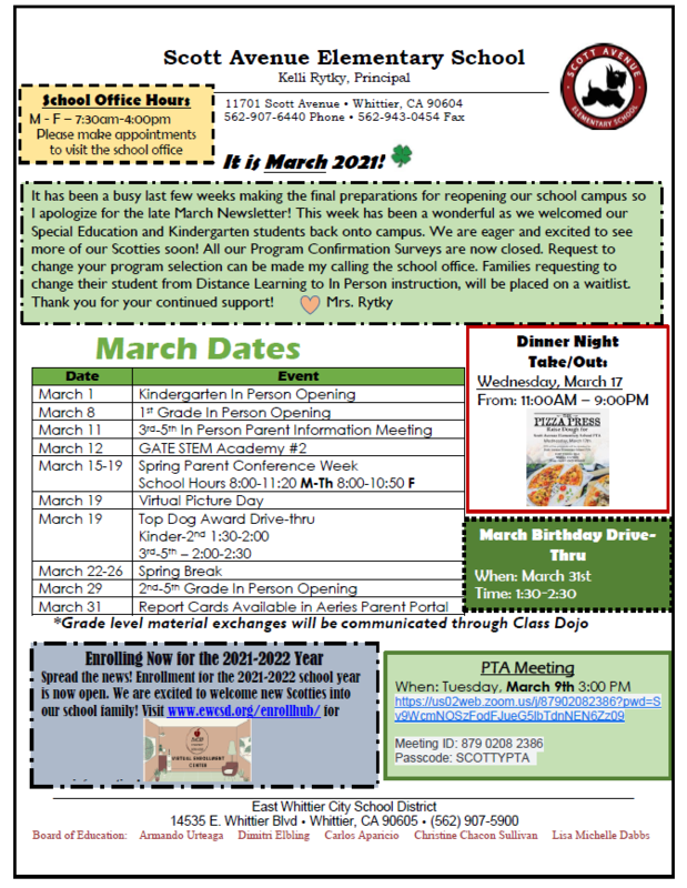 Image of March Newsletter