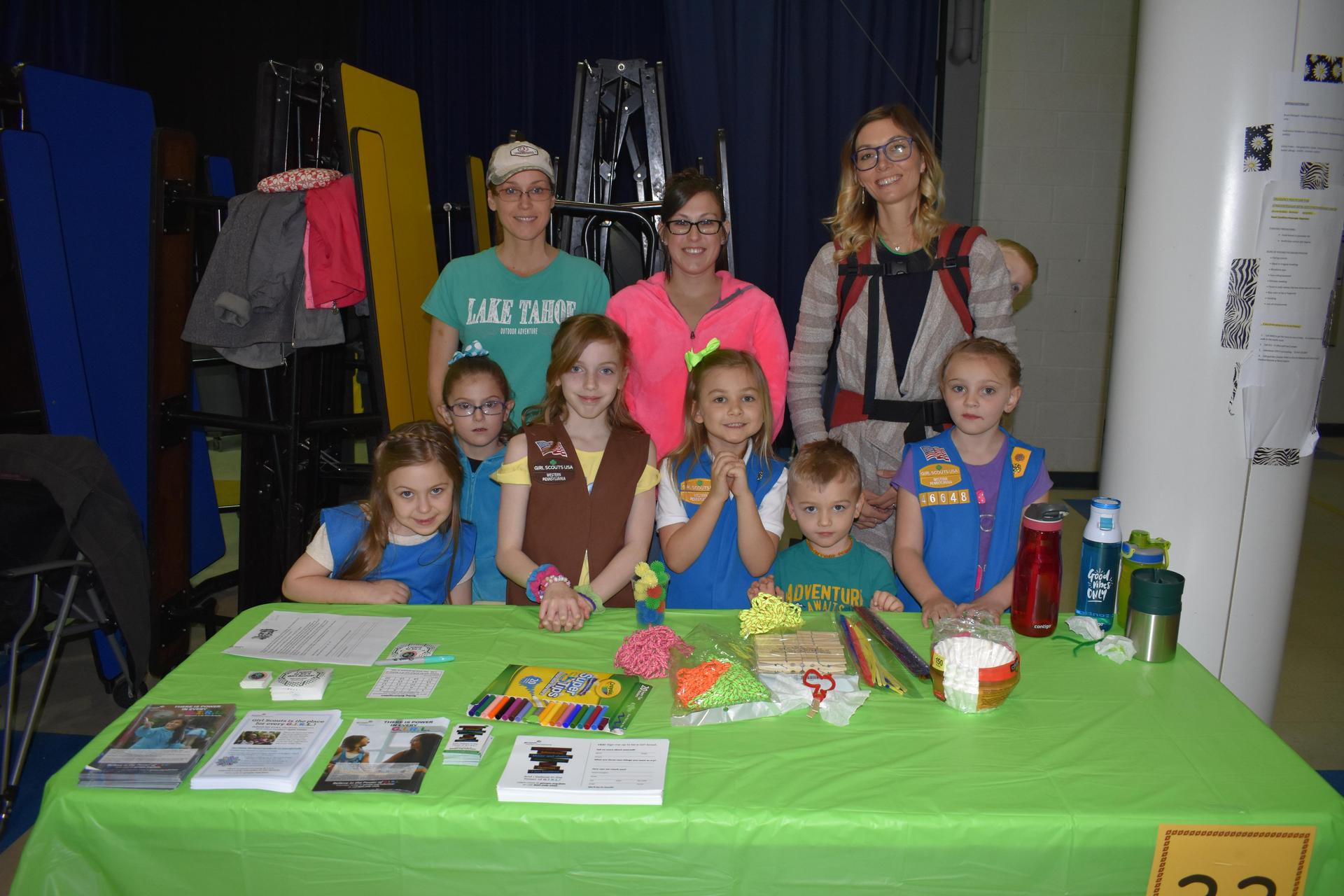 Girl Scouts Table