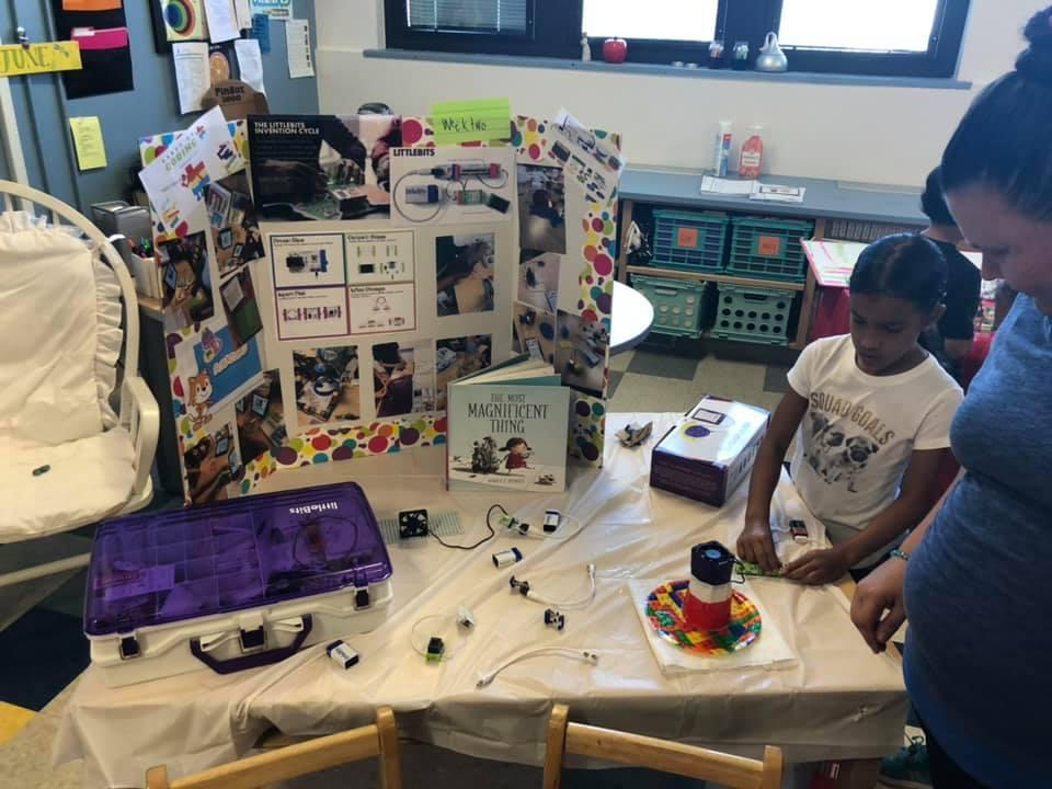 display table of creating robots
