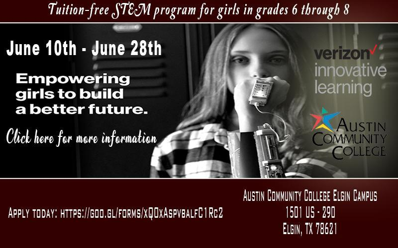 Tuition-free STEM program for girls in grades 6 - 8 Thumbnail Image