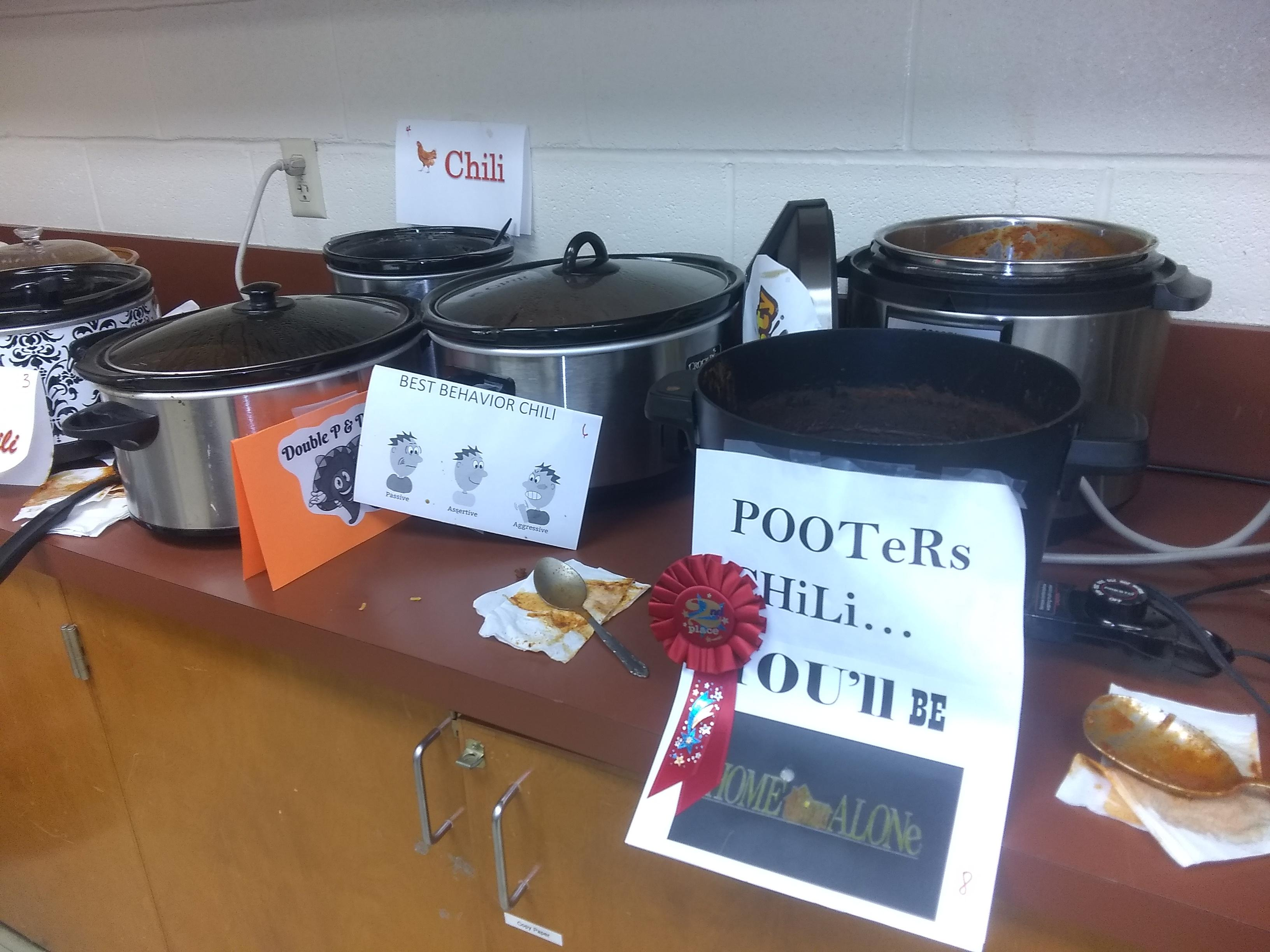 picture of chili cooking contest 2nd place