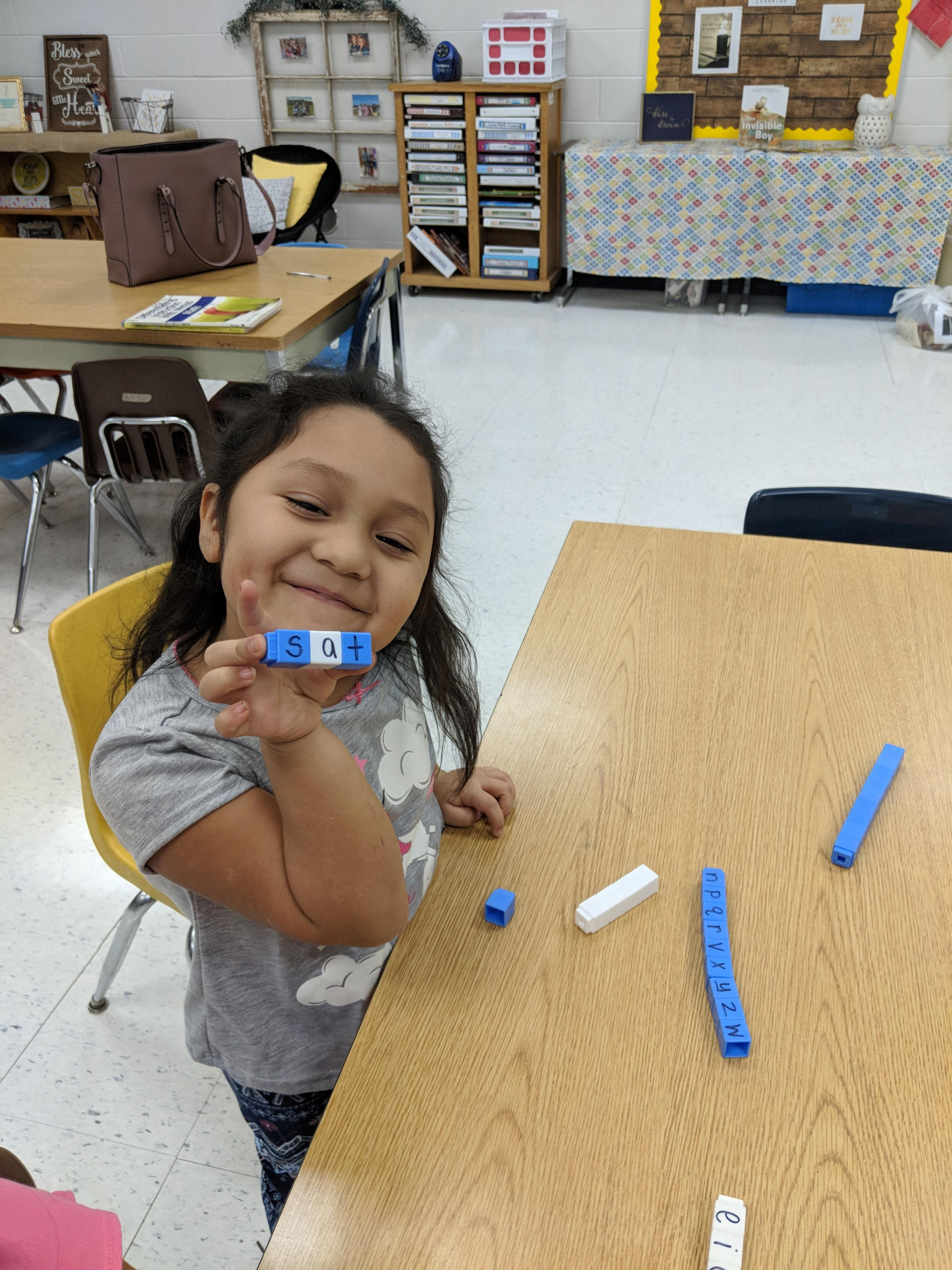 Kindergarten making words