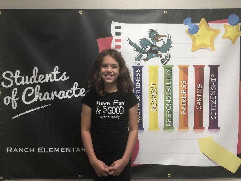 Shaylee Hyman Student of the Month