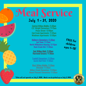 Summer Meal Service Sites