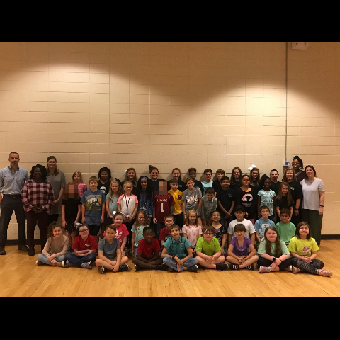 The 2018-2019 Elementary Peer Helpers and their school sponsors.