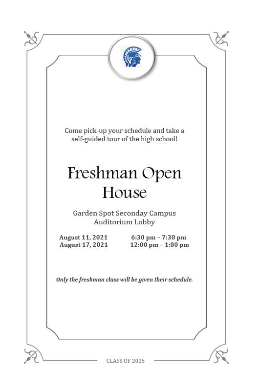 Freshmen (9th Grade) Open House Featured Photo