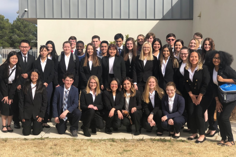 Frenship HOSA students at the area competition