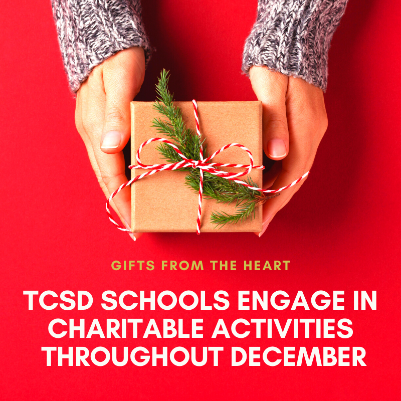 TCSD Charitable Activities in December graphic