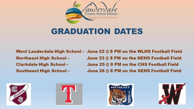 LCSD 2020 Graduation Dates Graphic
