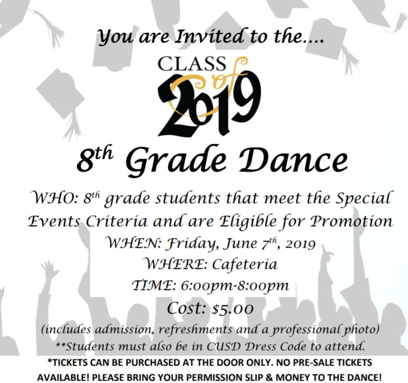 8th Grade Dance Information