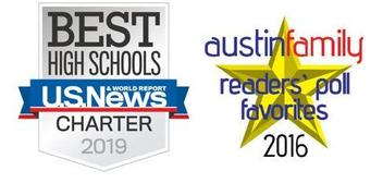 U.S. News & World Report 2019 Charter Silver Award and Austin Family Readers' Poll Favorites 2016