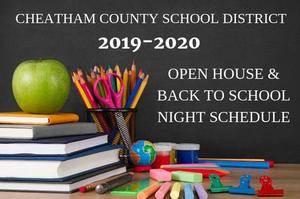 2019-2020 open house schedule