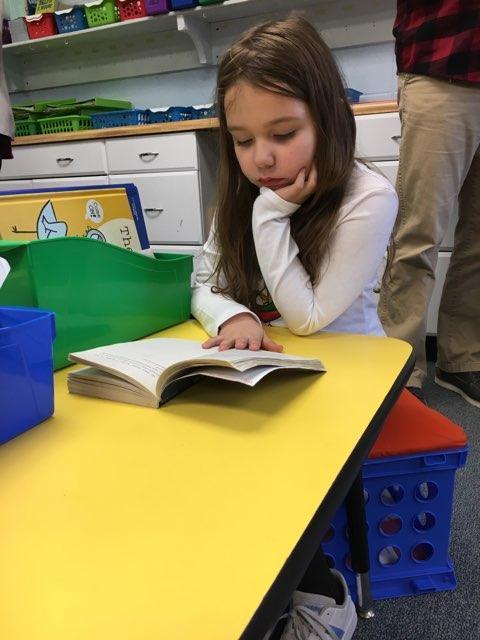 Enjoying a little reading time!