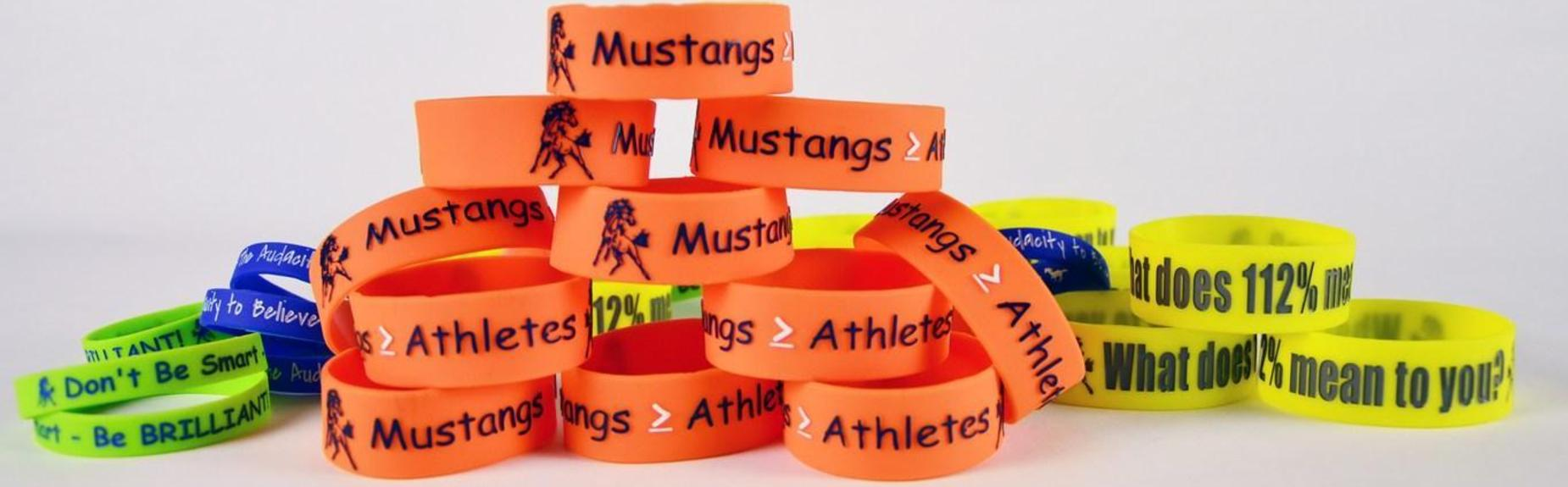 Stack of wristbands
