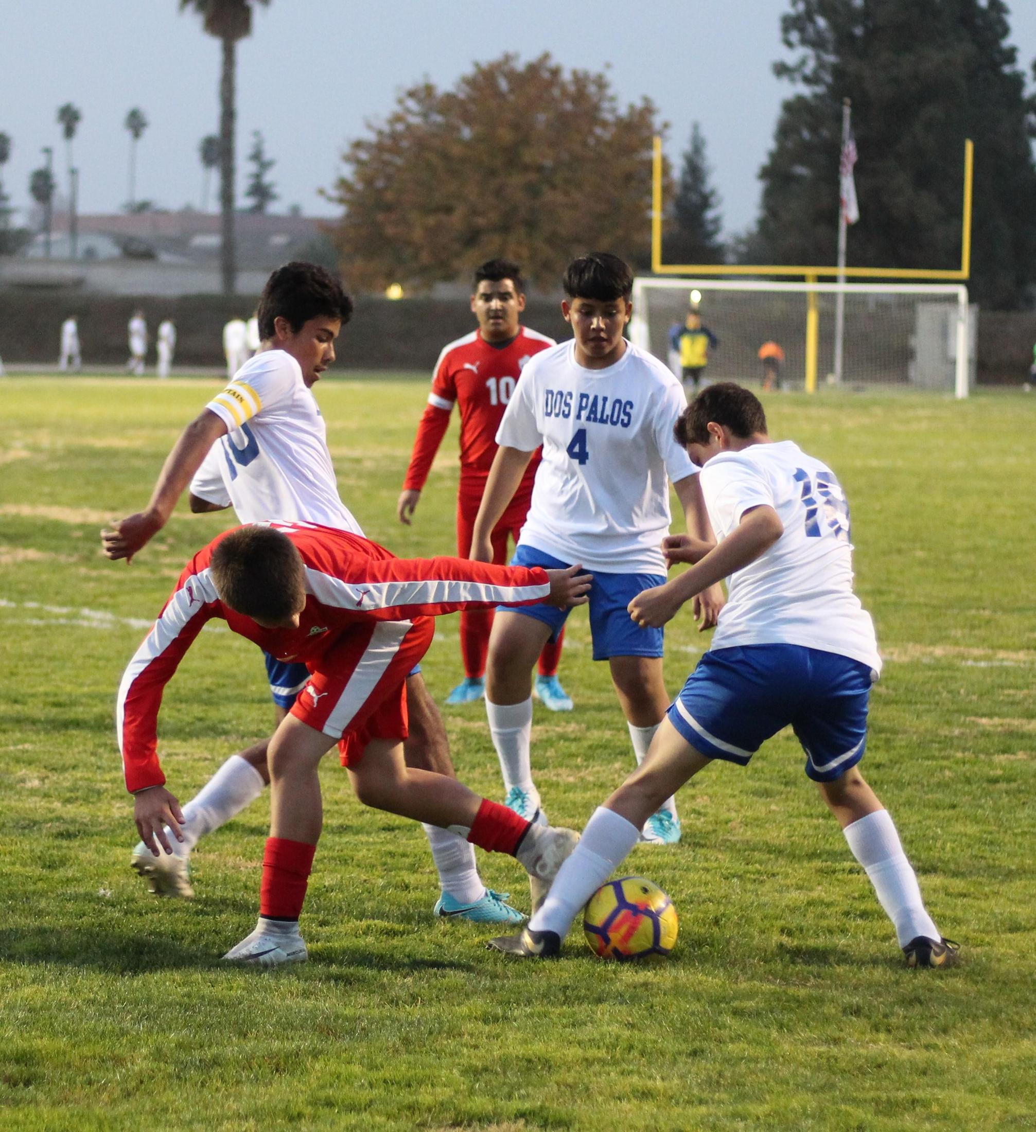 Seth Gonzalez Fighting for the Ball