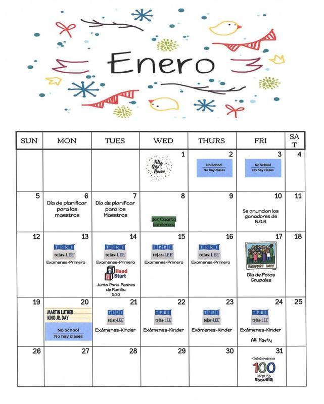 Calendario de Enero Featured Photo