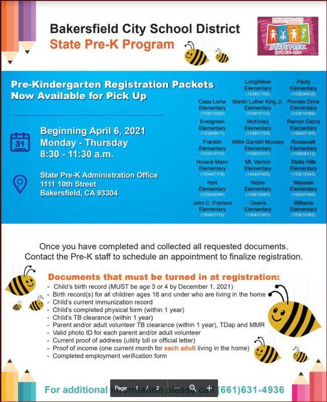 Pre-K Program Flyer