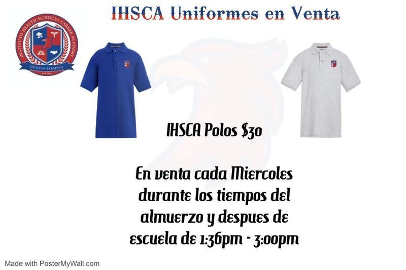 Polos Escolar Están a Venta en IHSCA! Featured Photo