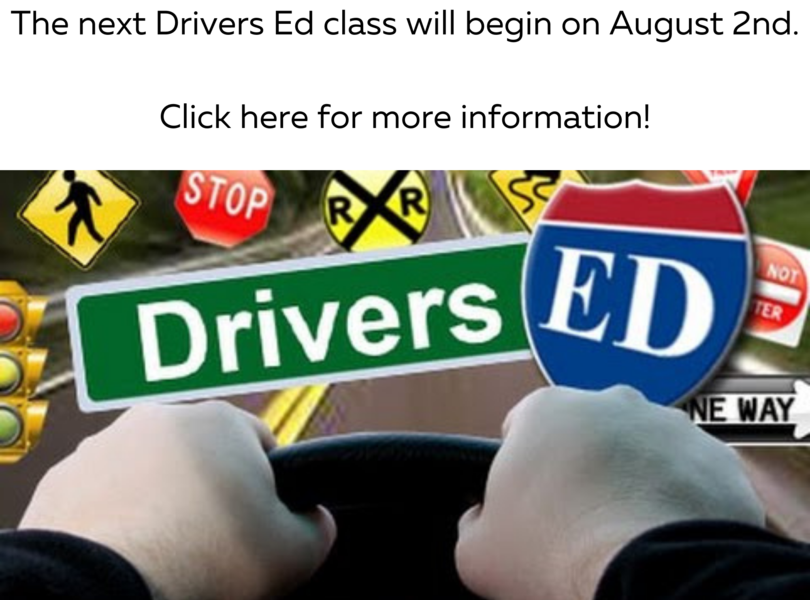 Link to Drivers Ed Info