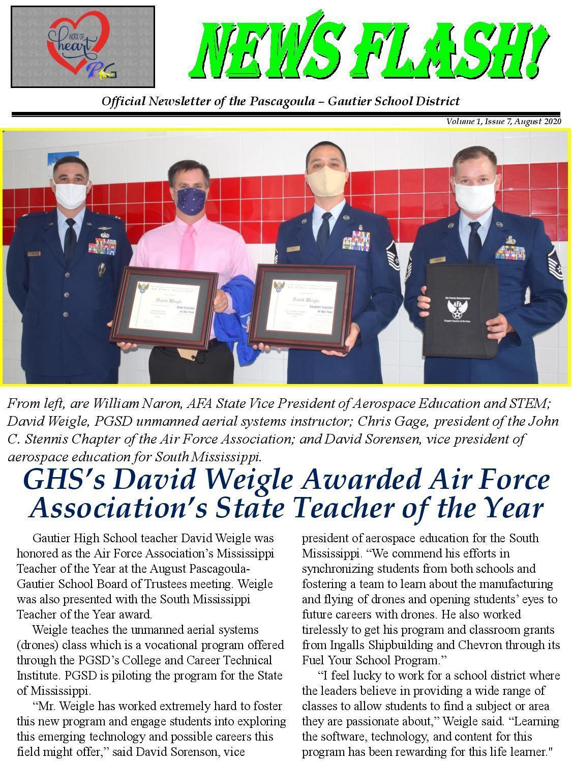 Vol. 1, Issue 7, GHS David Weigle Teacher of the Year